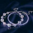 不思議なほどまばゆい輝き!タンザナイトダイヤモンドカットオーラブレスお得な2本セット[IB270]