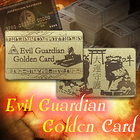 邪気から金運を守護-エヴィルガーディアンゴールデンカード/黄金に輝く金運守護GOLDカード/スフィンクス×狛犬ガーディアン