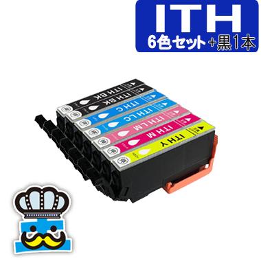エプソン ITH  6色セット +黒1本 互換インク ITH-6CL イチョウ EPSON プリンターインク 対応機種 EP-709A EP-710A EP-810A ITH-BK ITH-C ITH-M ITH-Y ITH-LC  ITH-LM 最安値 激安
