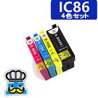 プリンターインク エプソン IC86 4色セット IC4CL86 互換インク EPSON ICBK86 ICC86 ICM86 ICY86 対応機種 PX-M680F
