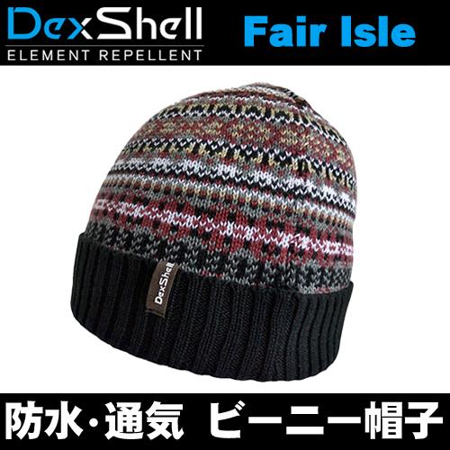DexShell(デックスシェル) 完全 防水ビーニー帽 フェアアイル柄 ボヘミアン スタイル Boho-chic Waterproof Beanie Fair Isle Bohemian DH362BH