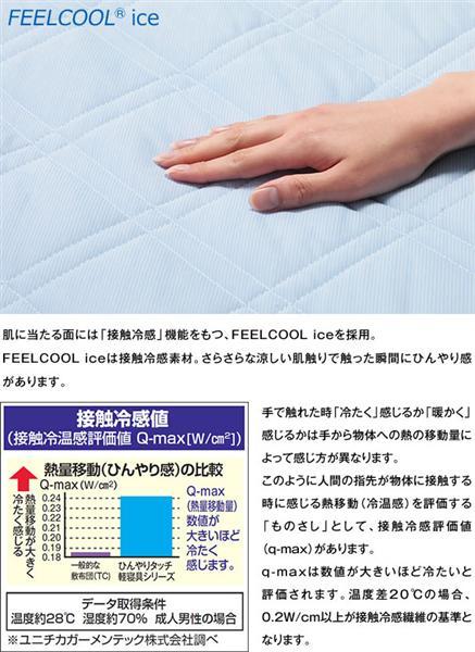 SLEEple/スリープル ひんやり タッチ 敷パッド ダブル 冷感/涼感/クール/冷却マット/敷きパッド 抗菌 防臭 防ダニ インテリア 寝具 パッドシーツ