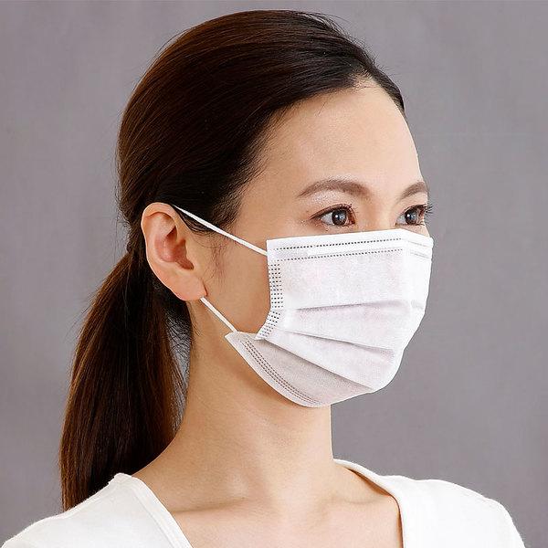 マスク 100枚 1箱50枚入り×2箱セット レギュラーサイズ 三層 不織布 プリーツ型 ノーズフィッター付き