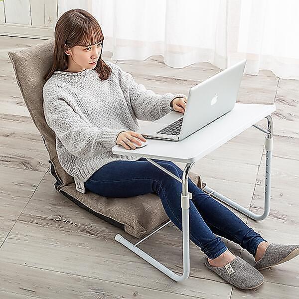 for the LIFE 折りたたみテーブル 高さ調節 角度調節機能付き 折り畳みテーブル テーブル 折りたたみ サイドテーブル