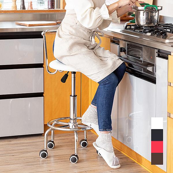 キッチンチェア ガス圧 昇降式 回転チェア キャスター付き キッチン チェアー カウンターチェアー