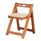 天然木折りたたみチェア 完成品 木製 コンパクト チェア 折りたたみ 椅子 いす イス チェア [TG]