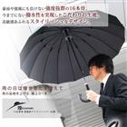 傘 煌 (kirameki) 16本骨傘 高強度 グラスファイバー 仕様 PU レザー ハンドルタイプ 台風にも耐えられる16本骨傘