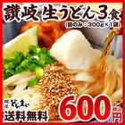 本場讃岐 讃岐生うどん たっぷり セット 麺のみ 麺300g×1袋 (3食)