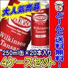 ウィルキンソン 炭酸水 250ml缶(20本入り)4ケース【4ケース送料無料!】