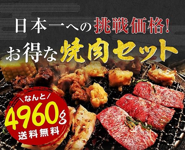 送料無料 楽天牛肉ランキング第1位 極厚秘伝のタレ漬け 牛焼肉セット4.8kg 約20人前 焼き肉 バーベキュー用 セット 冷凍食品 特産品 訳ありでない牛肉
