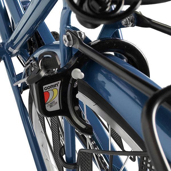 欠品中納期未定 自転車 26インチ サントラスト ママチャリ 6段変速ギア オートライト ギア付き かぎ付き LECIEL ルシール 激安 ネイビー
