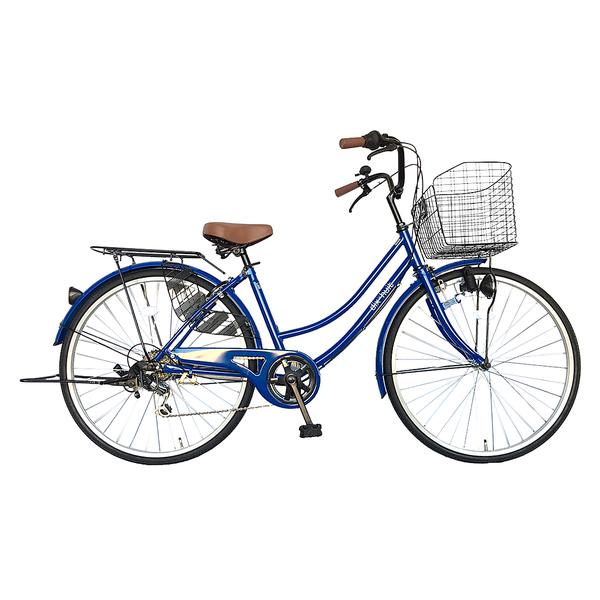 自転車 ママチャリ 軽快車 26インチ 6段ギア サントラスト SUNTRUST 自転車 ブルー 青 かわいいママチャリ おしゃれ シティサイクル 安い 通学 dixhuit ディズウィット ギア付きで使いやすいママチャリ 自転車 です。