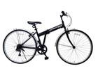 クロスバイク PRIME FD-700C 配送先一都三県一部地域限定送料無料 自転車 100%組立 700×28C ブラック 黒 6段変速ギア 折りたたみ 700C 折り畳みペダル 鍵付き 通勤 通学 本体 おしゃれ 安い