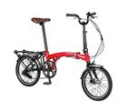 自転車 配送先一都三県一部地域限定送料無料 電動アシスト自転車 折りたたみ ハリークイン HARRY QUINN PORTABLE E-BIKE AL-FDB160E レッド 16インチ コンパクト 持ち運び可能