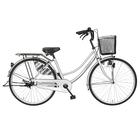 自転車 シンプルフレームで大人気 ママチャリ サントラスト ママチャリ 軽快車 シルバー/銀色 自転車 SUNTRUST -裾 SUSO すそ-ギアなし 自転車 26インチ鍵付き ママチャリ 通学用