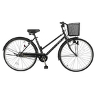 9月上旬以降発送 自転車 デザインフレームで人気 trois トロワ サントラストでシンプルなシティサイクル シティ車 27インチ ママチャリシティサイクル自転車 ブラック/黒 ギアなし