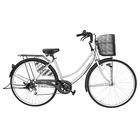 自転車 配送先一都三県一部送料無料 27インチ ママチャリ 6段変速ギア シティサイクル オートライト ギア付き FAMILIA ファミリア グレイ グレー 27 変速 オート ライト 自転車 サイクリング シティサイクル 通学