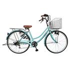 次回入荷未定 自転車 ママチャリ 軽快車 26インチ 6段ギア サントラスト SUNTRUST 自転車 ライトブルー 青 かわいいママチャリ おしゃれ シティサイクル 安い 通学 dixhuit ディズウィット ギア付きで使いやすいママチャリ 自転車 です。