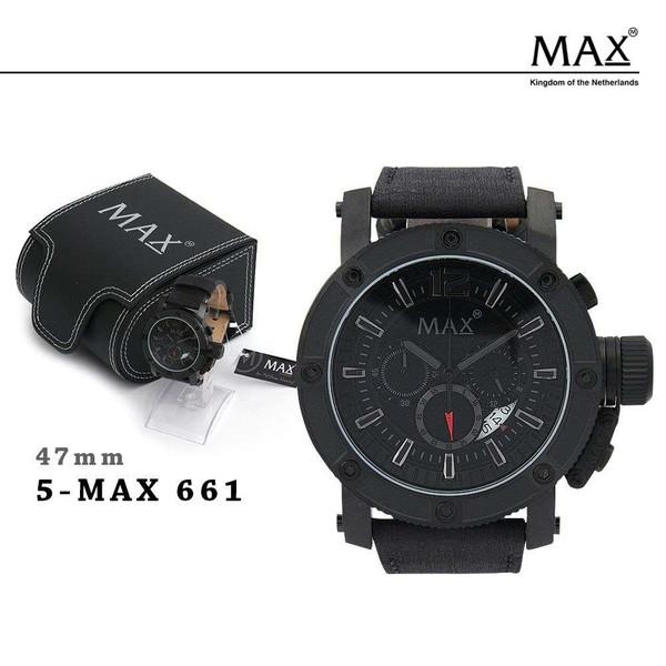 MAX XL WATCHES マックス メンズ 腕時計 クロノグラフ レザー ビジネス 5-MAX661 673 674 オランダ ヨーロッパ EU 大きい エックスエル ウォッチズ 2年保証書