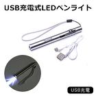 スリムタイプで便利なUSB充電式ペンライト!【送料無料】■USB充電式LEDペンライト■ペン型/USB/充電式/便利/コンパクト/持ち運び/明るい/スタイリッシュ/【1】