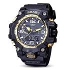 【送料無料】防水デュアルデジタルウォッチ 腕時計 メンズ ウォッチ ビッグフェイス デュアルウォッチ 多機能 便利 通販