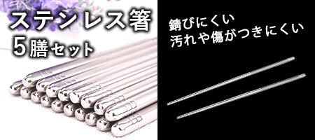 ステンレス箸5膳セット