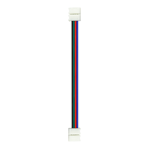 LEDテープ用 5050SMD RGB対応 2個セット 4PIN 幅10mm用 延長用コネクタ 12V 延長 コネクタ/コネクター/ はんだ付け不要! テープLED SDM便送料無料 1ヶ月保証 K&M