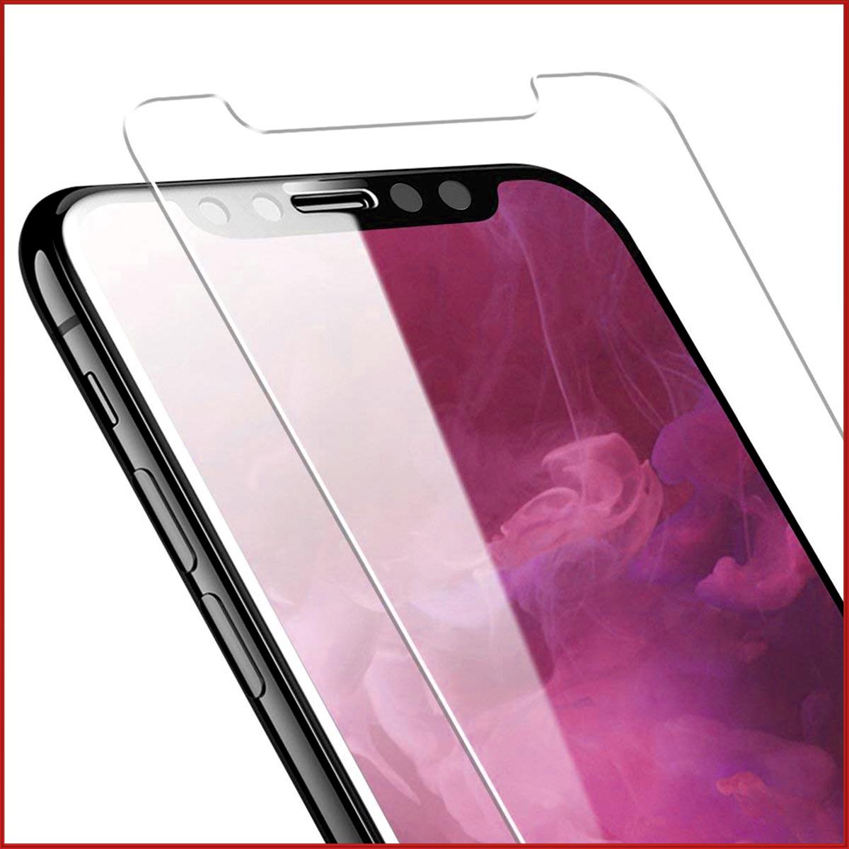 ガラスフィルム 2枚セット iPhone X XS MAX XR 8 7 Plus 強化ガラス 3D Touch対応 透過率99% 硬度9H 極薄 指紋防止 防汚れ 耐衝撃 飛散防止 保護フィルム SDM便送料無料 1ヶ月保証 K&M