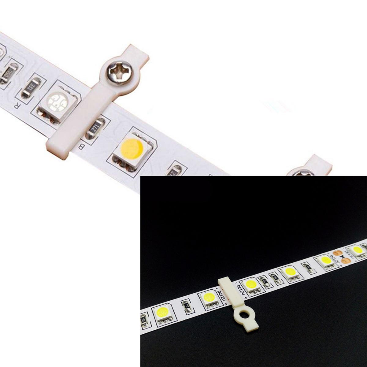 LEDテープ用 サドル 片側固定クリップ 留め具 20個セット テープLED ネジなし SDM便送料無料 1ヶ月保証