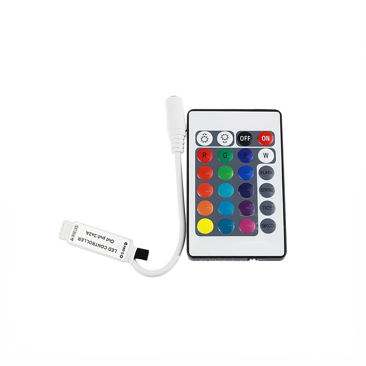 LEDテープ RGB専用 コントローラ リモコン 12V テープLED用 SDM便送料無料 1ヶ月保証 K&M