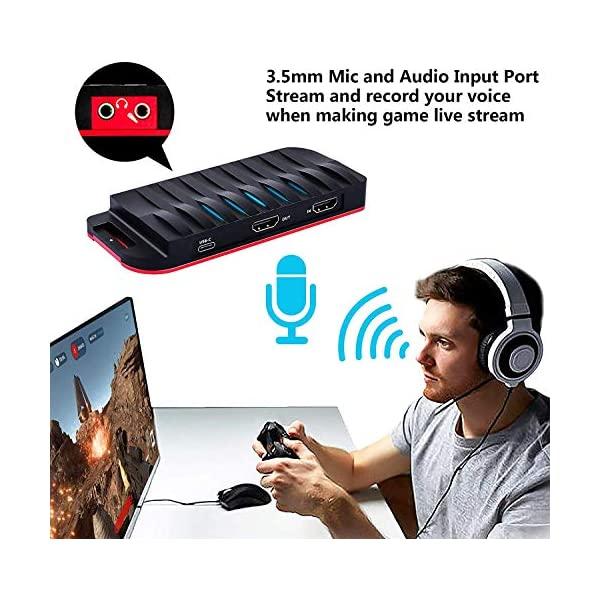 TreasLin Hdmiキャプチャボード USB-C 4k入力1080p 60fps出力 Mac/Windows