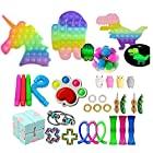 33個 スクイーズ玩具 プッシュポップ セット フィジェットおもちゃ プッシュポップポップ バブル感覚 減圧グッズ ストレス解消 洗える可能 家族 子供用 夜光 (夜光 33pcs)