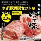 【ふるさと納税】N7007 こだわり配合飼料育成!もっちり食感!奈半利ゆず豚満喫セット(2.3kg程度)