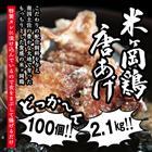 【ふるさと納税】to002ドカンと2.1kg!(約100個)超ジューシー♪もっちり食感米ヶ岡鶏カラアゲセット300g×7 寄付額10,000円