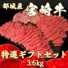 【ふるさと納税】都城産宮崎牛特選ギフトセット3.6kg