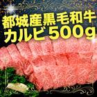 【ふるさと納税】都城産黒毛和牛カルビ 500g