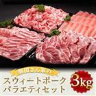 【ふるさと納税】都城産「前田さん家のスウィートポーク」バラエティ3kgセット