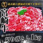 【ふるさと納税】都城産宮崎牛切り落とし1kg