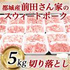 【ふるさと納税】都城産「前田さん家のスウィートポーク」5kg切り落とし