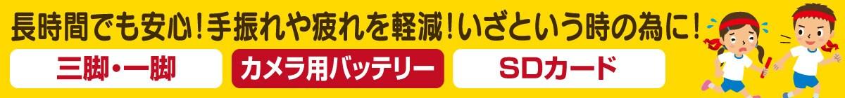 三脚&一脚・カメラ用バッテリー・SDカード