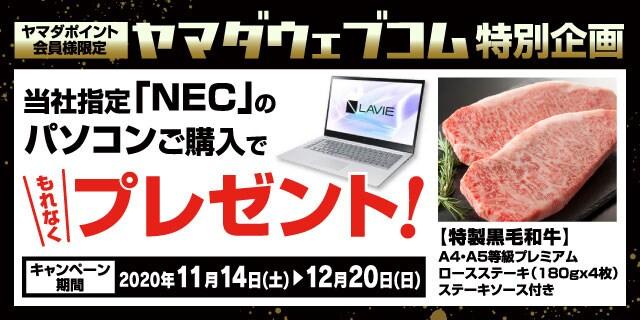 【NEC・パソコンLAVIE VEGA】ギフトプレゼントキャンペーン