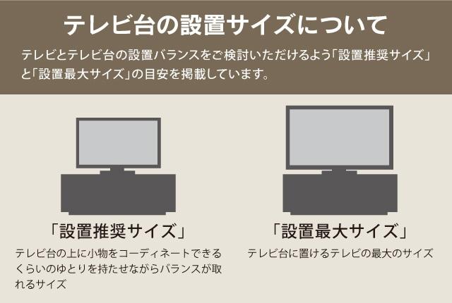 テレビ台の設置サイズ