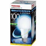 TOSHIBA 調光器非対応LED電球 E-CORE(一般電球形・全光束1520lm/昼白色・口金E26) LDA13N-G100W