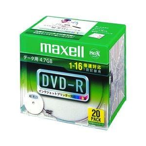 マクセル データ用DVD-R 4.7GB 16倍速プリンタブルワイド 20枚 DR47WPD.S1P20SA