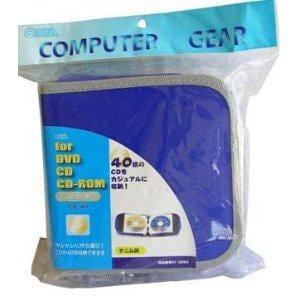 オーム電機 CDポーチ デニム調 CD-40