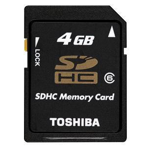 TOSHIBA SDHC4GB CLASS6 SDGH004G