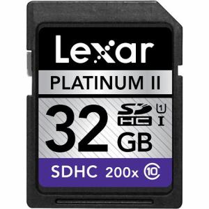 Lexar PlatinumII200倍速SDHC UHS-1 Class10 32GB LSD32GBBJP200