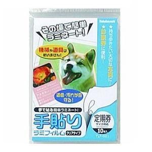 ナカバヤシ TLF-001 手貼りラミフィルム/定期券サイズ/10枚