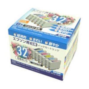 PPC PP-EIC32-6P エプソン用互換インク(6色セット) ICBK32、ICC32、ICM32、ICY32、ICLC32、ICLM32互換