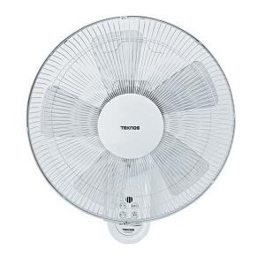 テクノス 40cm壁掛けフルリモコン扇風機  ホワイト KI-W478R